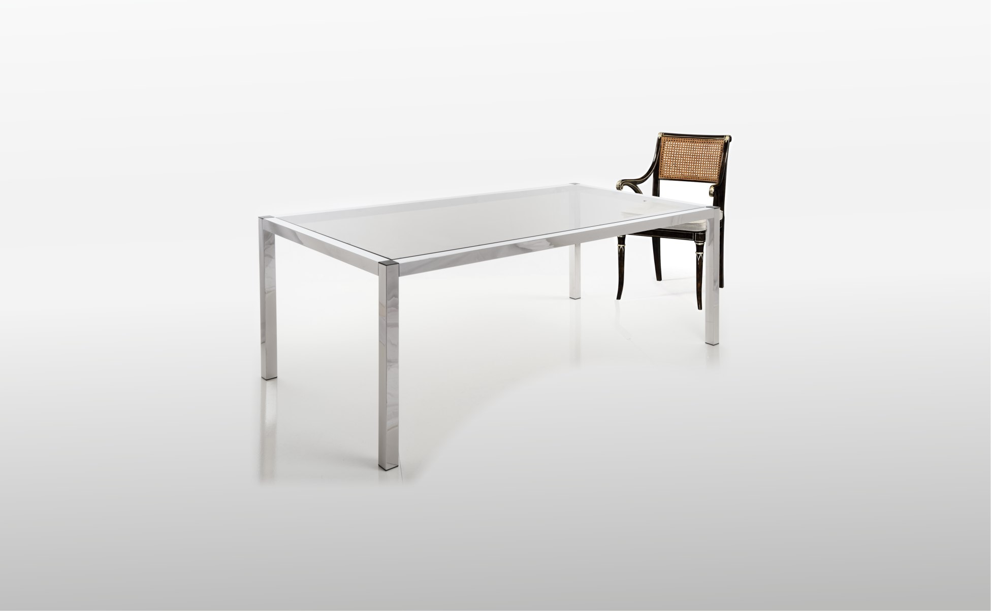 Stainless Steel Mirror finished dining table